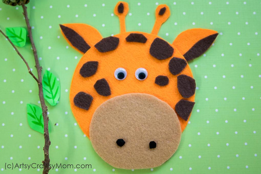 giraffe printable template
