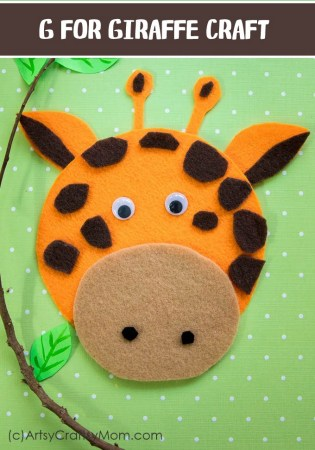 Make this adorable G for Giraffe Craft using our Printable Template that's perfect for learning about Africa, mammals, letter G and the ZOO!