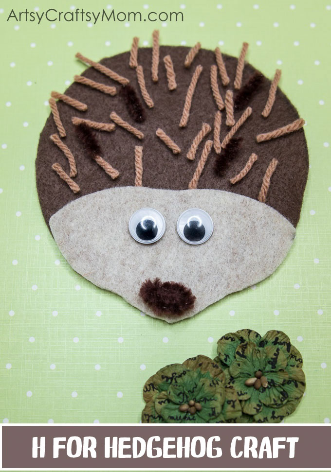 This H for Hedgehog Craft is perfect for Letter of the week, letter H, learning about forests and forest animals, hibernation or for a fall/autumn activity.
