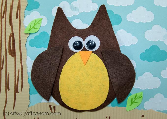 o for owl craft with printable template