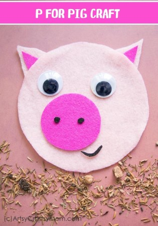 P for Pig Craft with Printable Template