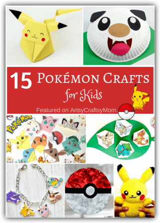 15 Super Cute Pokémon Crafts for Kids