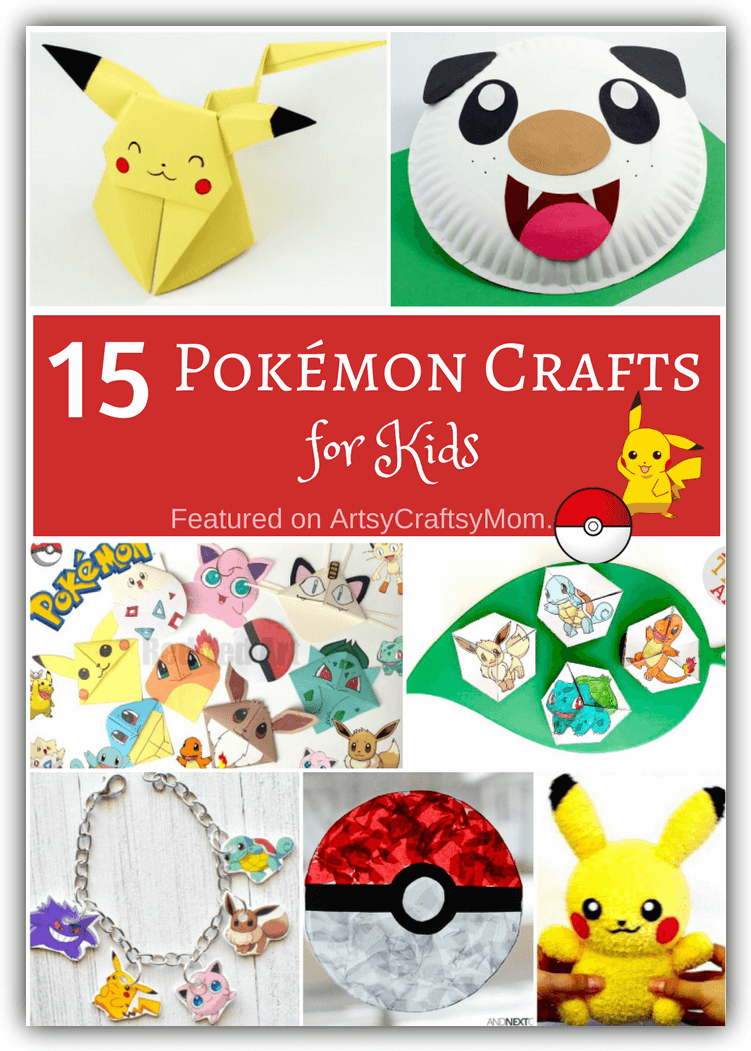 graphic regarding Printable Pokemon Party Games named 15 Pokémon Crafts for Youngsters