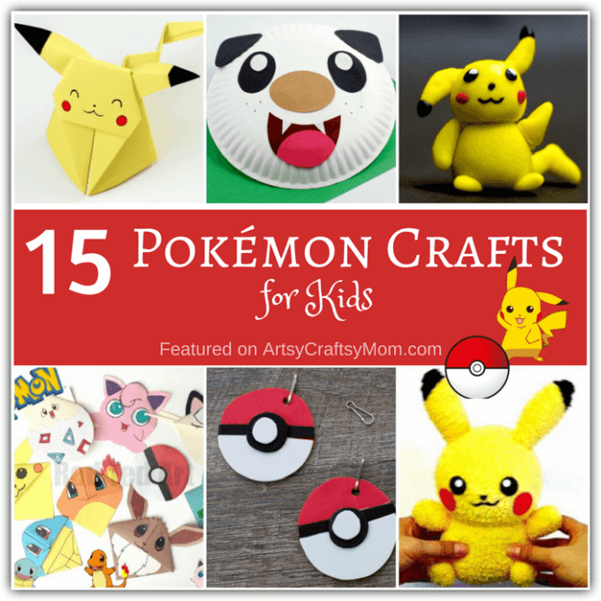 Whether you're a fan of the show or the game, you're sure to love these Pokémon Crafts for Kids! Make them for fun or to give to your friends!