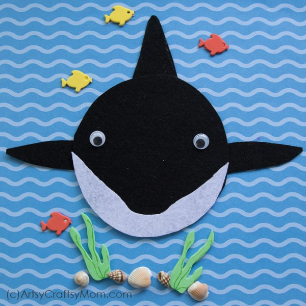 Make this adorable S for Shark Craft using our Printable Template that's perfect for shark week, Sea Creatures, Ocean Study or while studying the letter S.