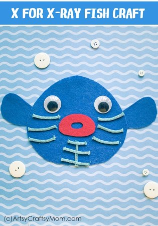 X for X-Ray Fish Craft with a Printable Template