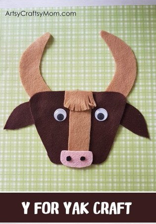 Y for Yak Craft with a Printable Template