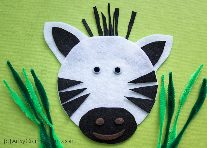 Make this adorable Z for Zebra Craft using our Printable Template that's perfect for learning about the Savannah, wild animals, the horse family or the Letter Z.