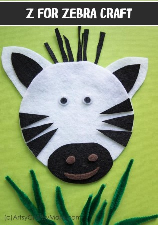 Z for Zebra Craft with a Printable Template