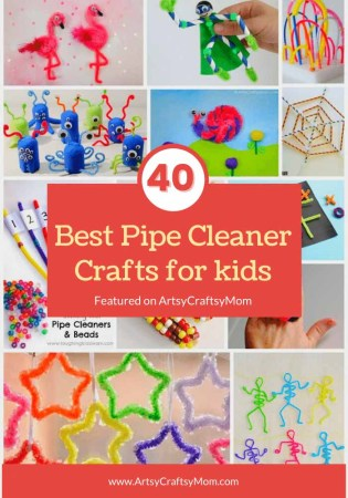 The 40 Best Pipe Cleaner Crafts for kids - from flowers, to rings, to Christmas ornaments, to finger puppets the sky's the limit!