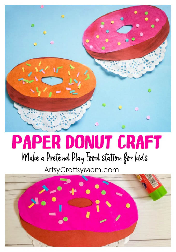 Pretend Play Food - Doughnut Paper Craft For Kids