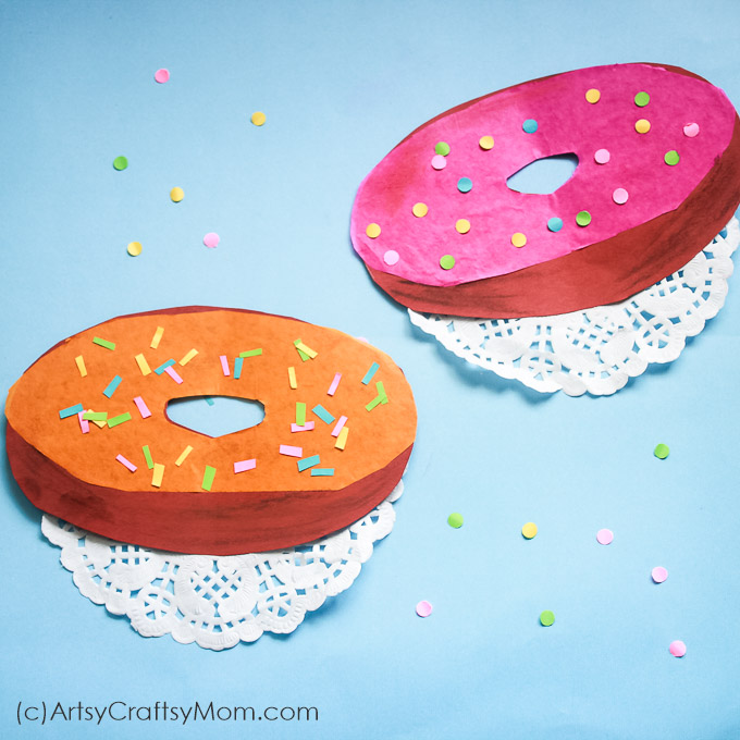 Love doughnuts? Then this doughnut paper craft is a must make! Punch out holes and add a glaze of your choice. Don't forget to add lots of sprinkles!
