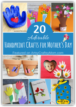 20 Adorable Handprint Crafts for Mother's Day
