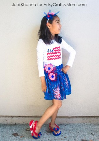 DIY American Flag-inspired Outfit  for 4th Of July