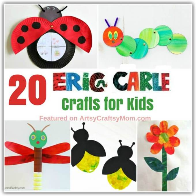 For millions of kids the world over, Eric Carle's illustrations are probably their first introduction to the world of art. Celebrate this incredible artist with some cute and colorful Eric Carle Crafts for Kids.