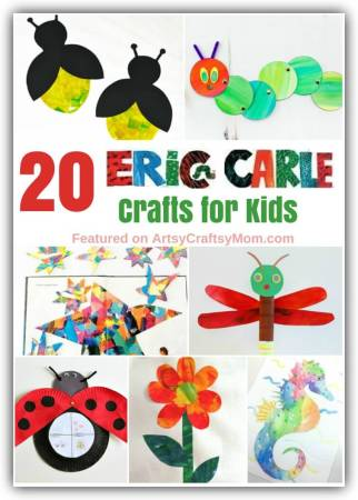 20 Cute and Colorful Eric Carle Crafts for Kids