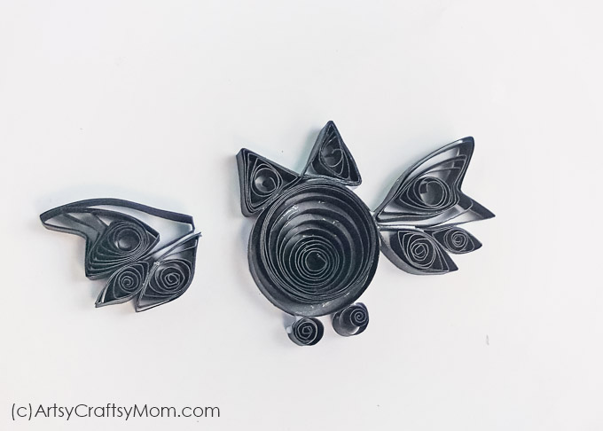 Looking for fun crafts for Halloween? Then you are in the right place. This DIY Paper Quilled Bat craft for kids is perfect for Halloween.