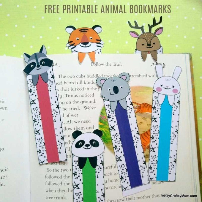 Get ready for school with our free Printable Animal Bookmarks for Summer Reading. The perfect Back to school Printable to cheer up your reading time!