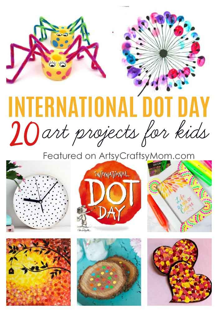 Exercise those creative muscles with these delightful dot crafts for kids, just in time for International Dot Day! From art work to gifts, there's something for everyone!