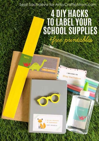 4 DIY Hacks to Label Your School Supplies + Free Printable. Back to School Ideas to help you organize and to add yourchild's name to allof their supplies