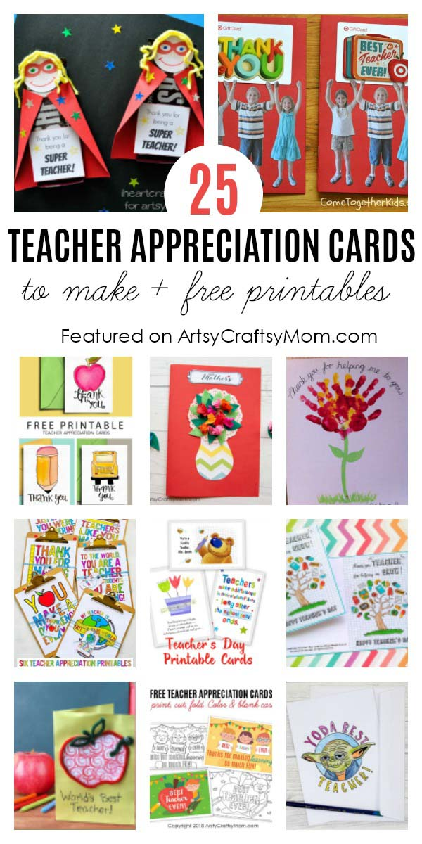 picture about Star Wars Thank You Cards Printable Free identified as 25 Incredible Instructors Appreciation Playing cards with Totally free Printables