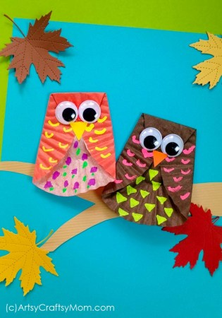 Cupcake Liner Owl Craft | Fall Craft for Kids