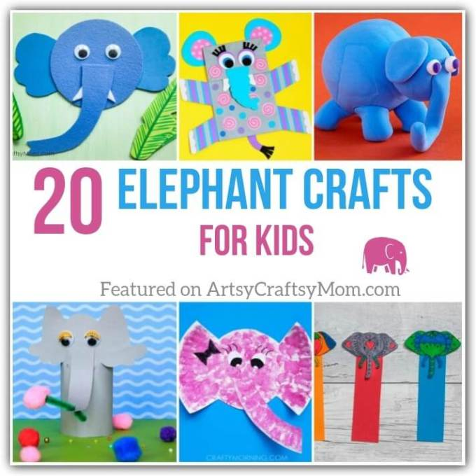 These incredibly cute elephant crafts for kids are perfect for any occasion. Ranging from the super simple to the challenging, there's something for everyone!
