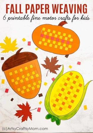 Paper Weaving Fall Printables – Fine Motor Activity