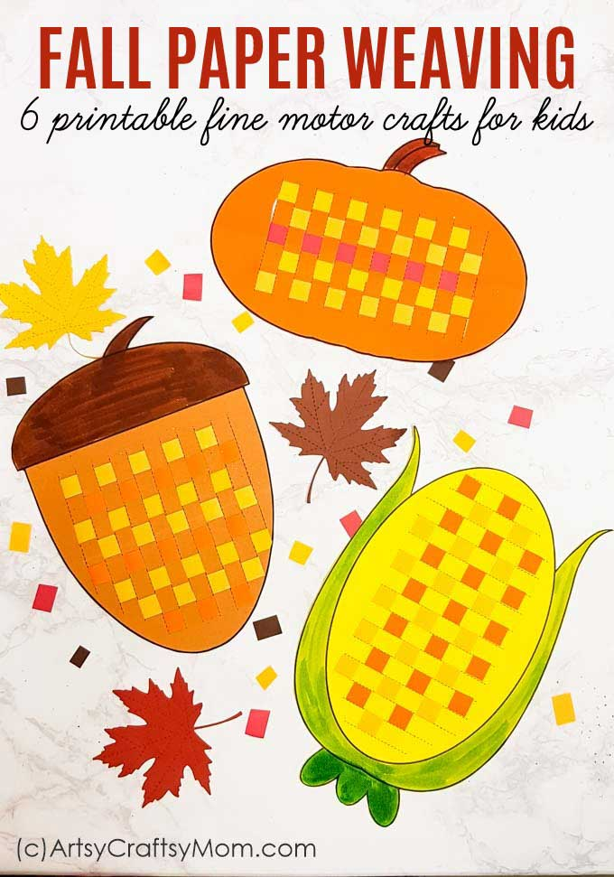 graphic relating to Printable Fall Decorations titled Paper Weaving Slide Printables - Wonderful Engine Sport