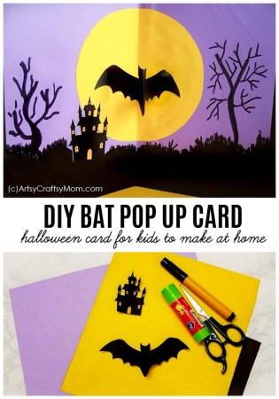 DIY Bat Pop Up Halloween Card for Kids