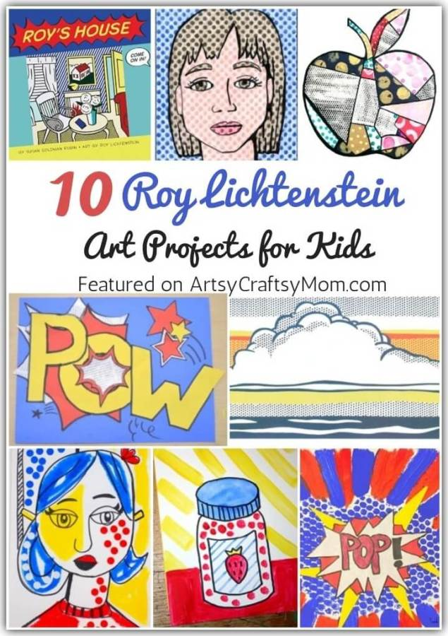 Check out these amazing Roy Lichtenstein Art Projects for Kids to learn about the artist who transformed comic strips into high end art!