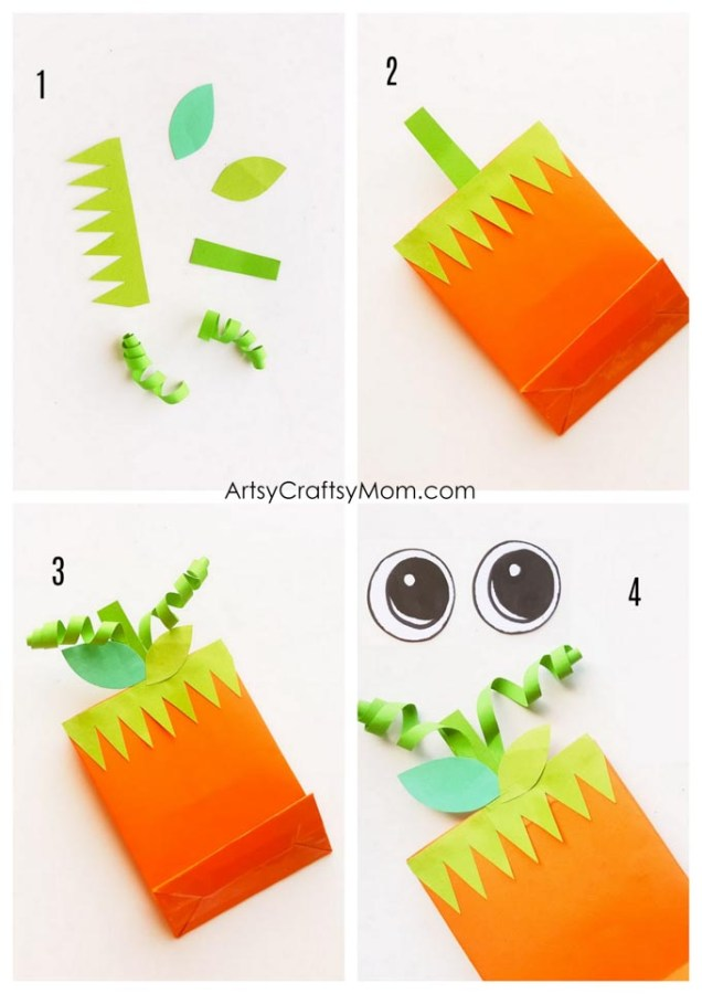 Got pumpkins on your porch? Now have them in your hand with these DIY Pumpkin Treat Bags that are perfect for Halloween! Easy to make and decorate!