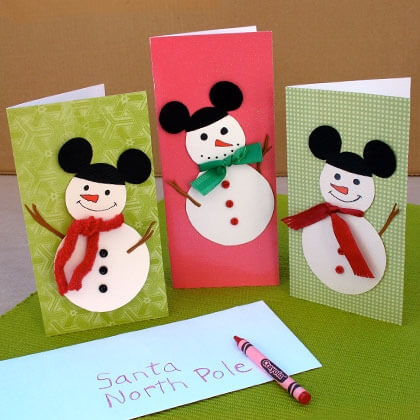 Snowman Christmas Cards Ideas.20 Simple And Sweet Diy Christmas Card Ideas For Kids