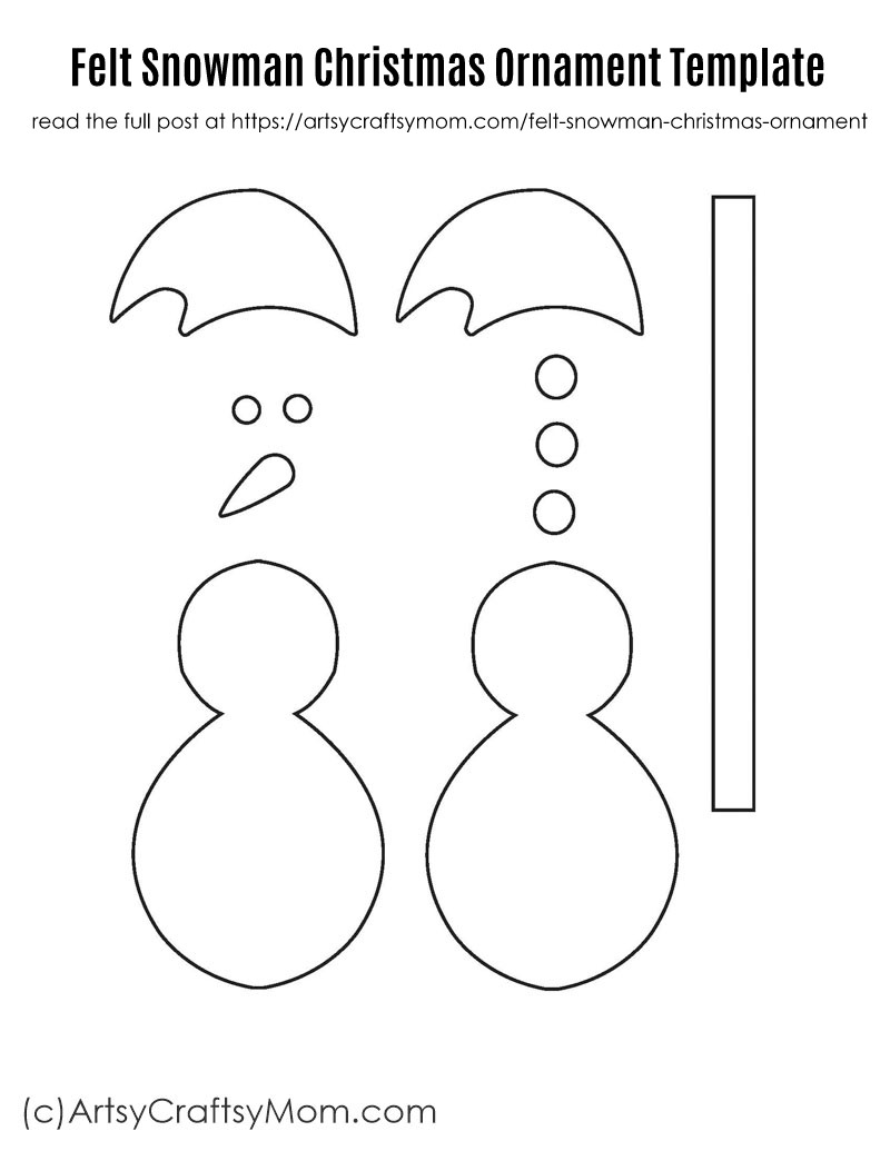 graphic regarding Free Printable Christmas Ornament Templates identified as no cost printable snowman styles -