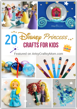 20 Dreamy Disney Princess Crafts for Kids
