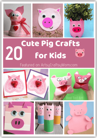 20 Pink and Playful Pig Crafts for Kids | Year of the Pig Crafts