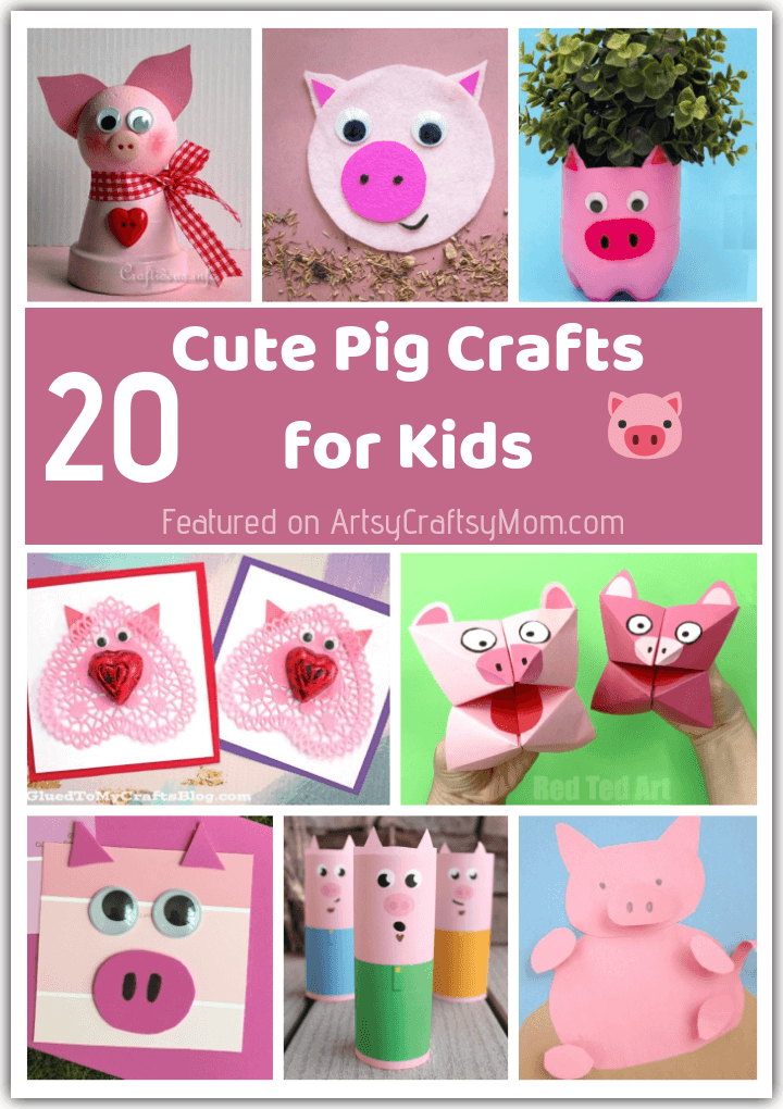 20 Playful Pink Pig Crafts For Kids Chinese New Year Of The Pig Crafts