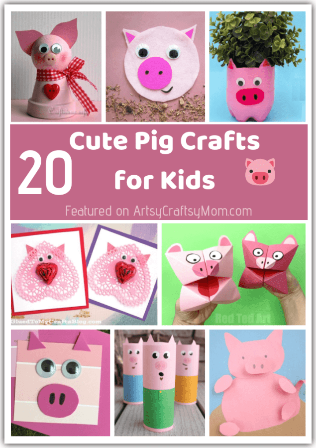 Celebrate the Year of the Pig with these pink and playful Pig Crafts for kids! Have fun making pigs out of paper, cereal boxes, toilet rolls, rocks and more!