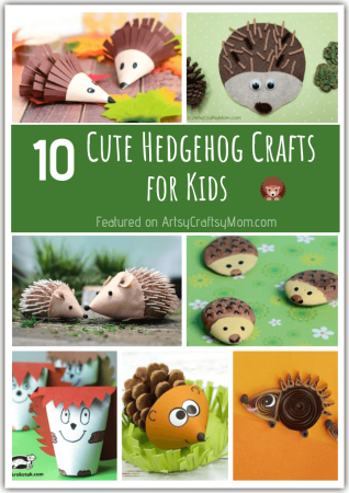 10 Adorable Hedgehog Crafts for Kids