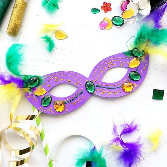 6f7425624d5 Celebrate the enthusiasm and grandeur of Mardi Gras with these colorful Mardi  Gras Crafts for Kids