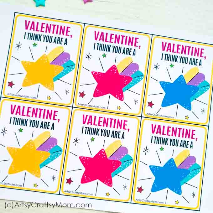 Let your Valentine know what they mean to you with these 'You're a Star, Valentine' Free Printable Tags! Attach it to a gift, a box of candy or a bouquet!