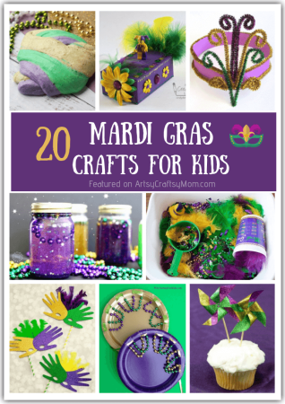 20 Magnificent Mardi Gras Crafts for Kids