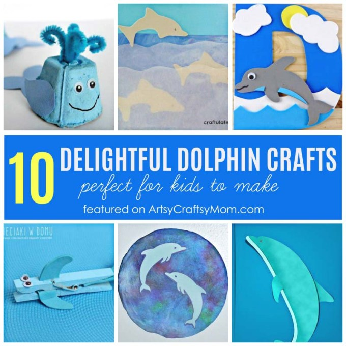 10 DELIGHTFUL DOLPHIN CRAFTS FOR KIDS- Origami Dolphin, egg carton dolphin, printable dolphin templates and more