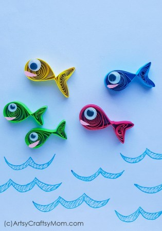 One Fish Two Fish Paper Quilling Craft