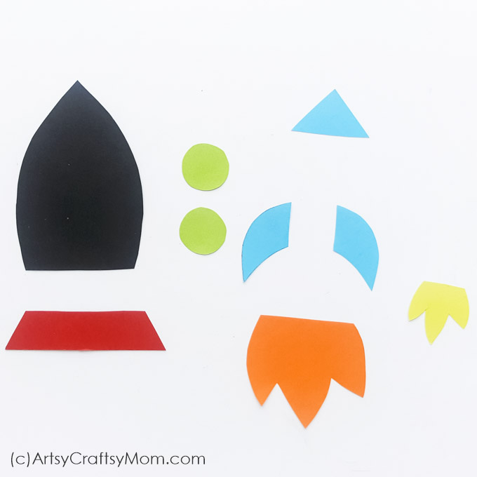 photograph regarding Rocket Printable known as Paper Rocket Craft for Youngsters + No cost Printable Template