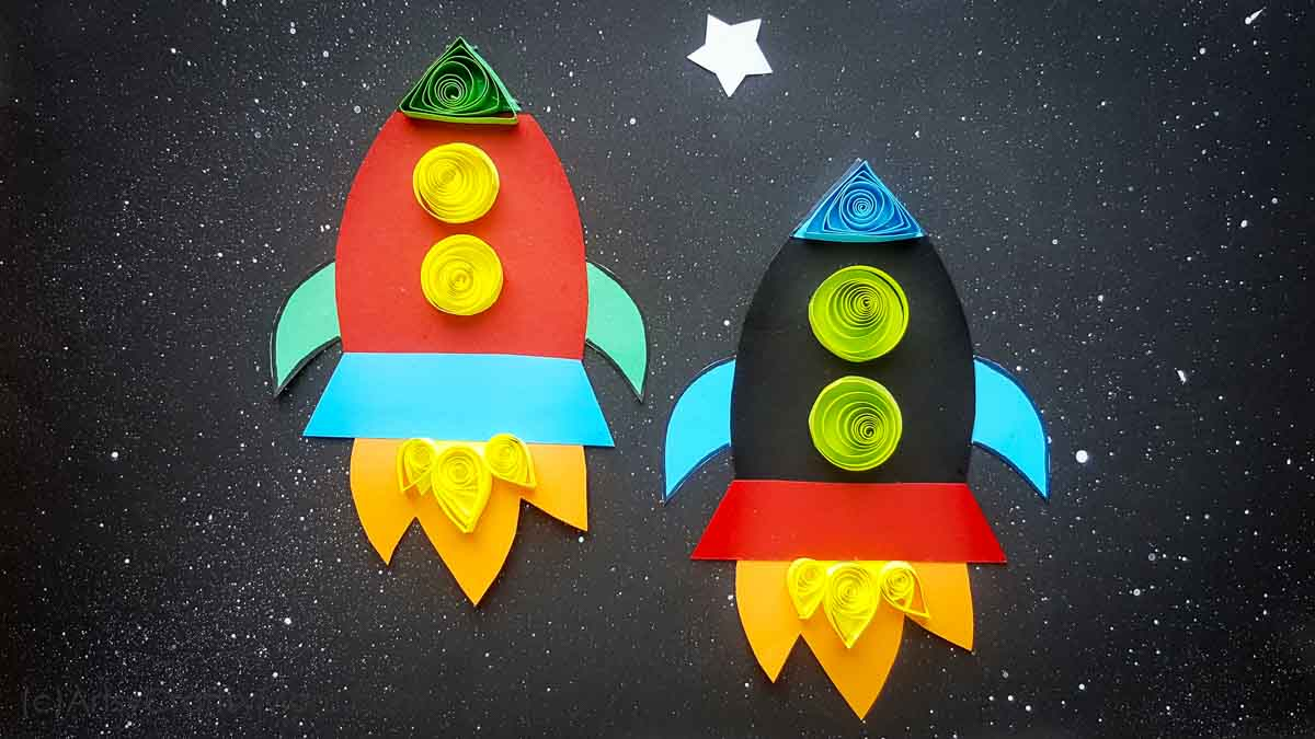 Paper Rocket Craft For Kids + Free Printable Template