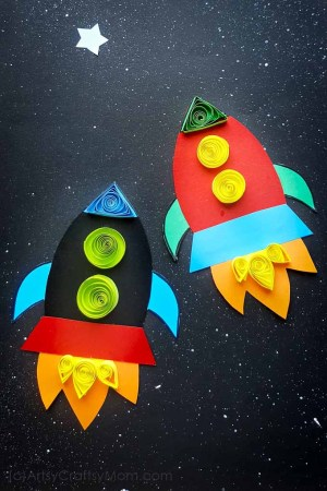 Paper Rocket Craft + Free Template