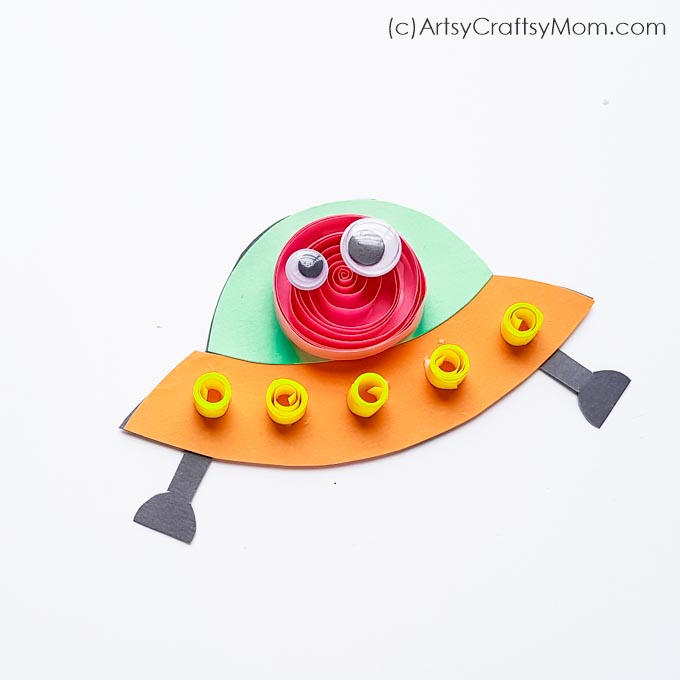 Paper Alien Spaceship Craft For Kids