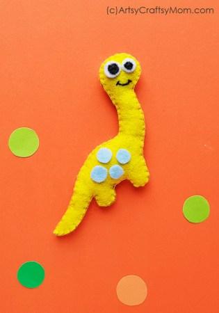 DIY Felt Dinosaur Plushie + Free Template