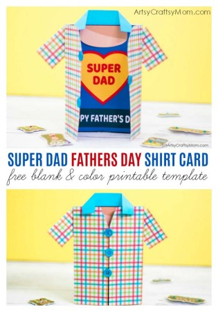 Super Dad Fathers Day Shirt Card